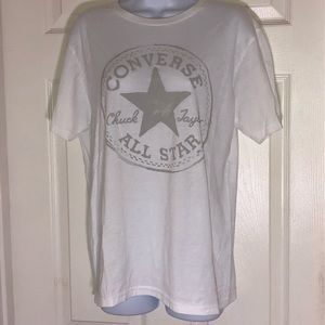 Converse Unisex All Star White T Shirt (S)